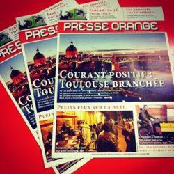 1er numéro de Presse Orange, le journal des étudiants ISCPA Toulouse