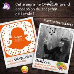 #MonSnapISCPA Cette semaine, partagez le quotidien d'Ophélie