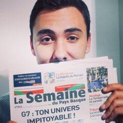 #MonStageISCPA Germain, Journaliste pour la Semaine du Pays Basque