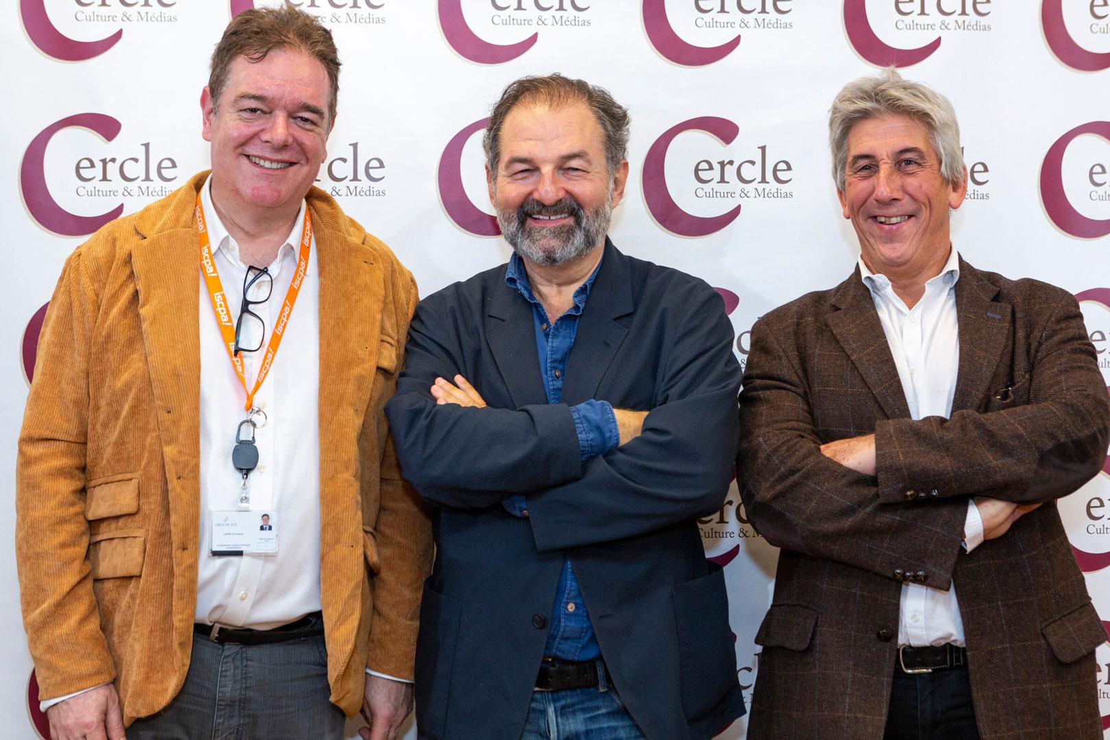 Cercle Culture & Médias - ISCPA Paris - Emmanuel Carré, Denis Olivennes et Hervé Rony