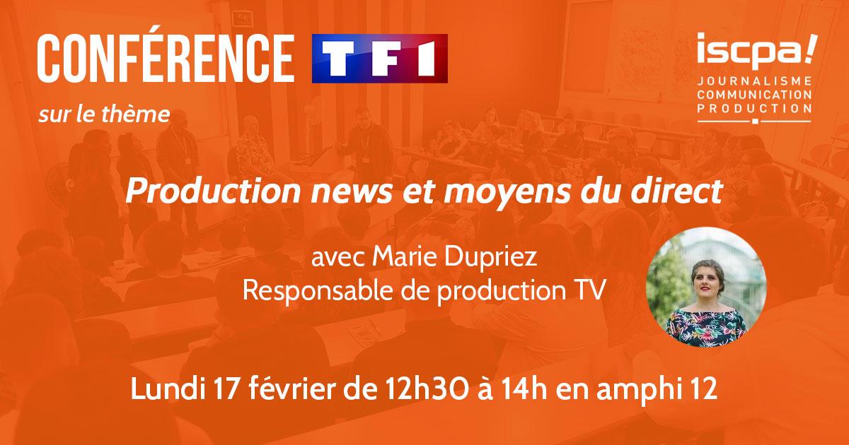 Conférence TF1 - Production News et Moyens du direct