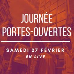 JOURNEE PORTES OUVERTES LIVE, SAMEDI 27 FEVRIER à 11h00