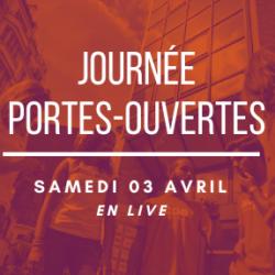 JOURNEE PORTES OUVERTES LIVE, SAMEDI 03 AVRIL à 11h00